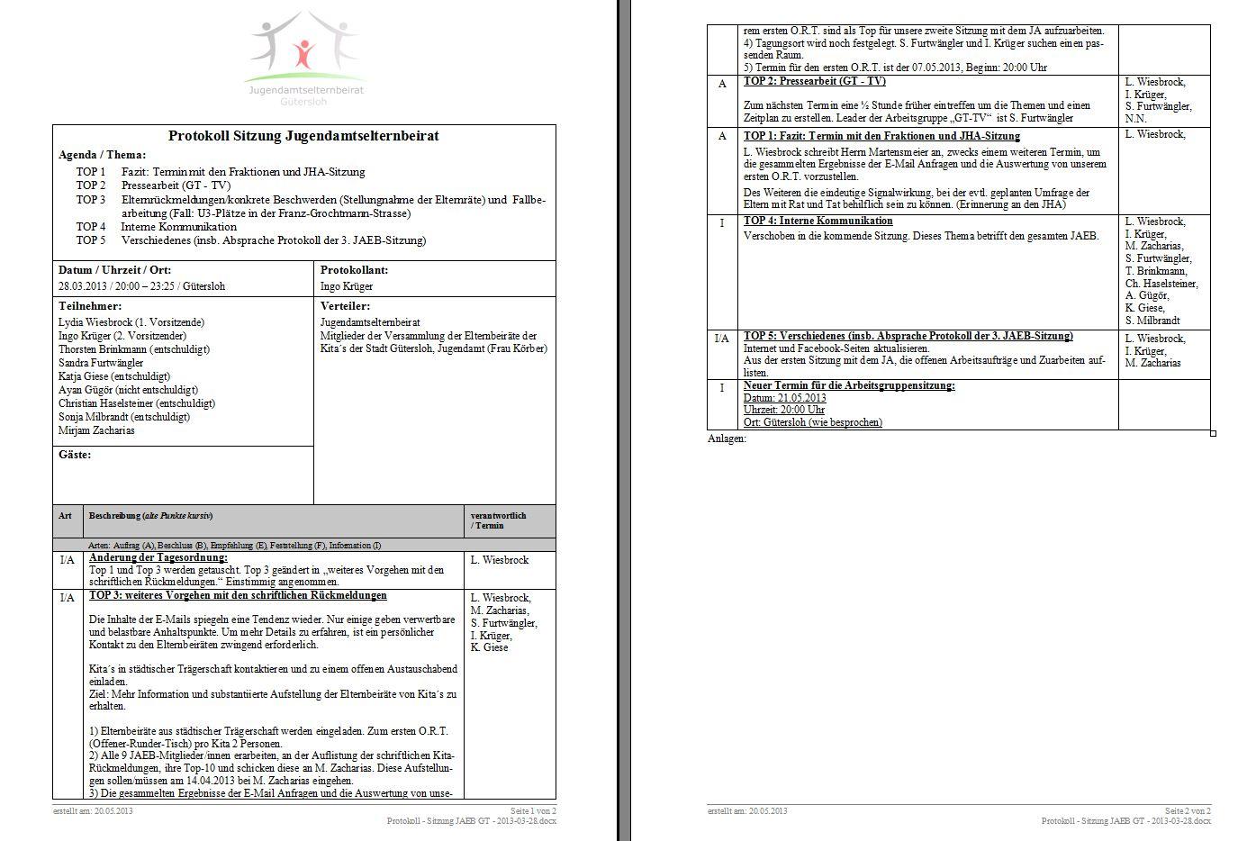 Protokoll vom 28.03.2013